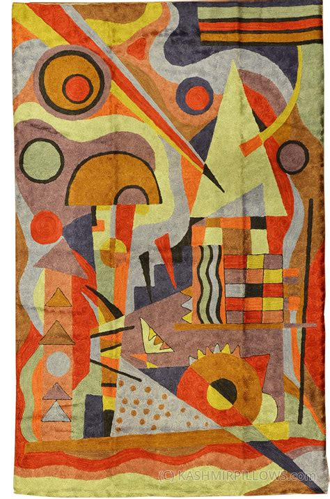 modern tapestry wall hangings kandinsky composition silk rug wall tapestry embroidered 2 5ft x 4ft kashmir pillows