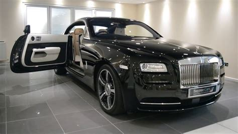 luxury   finest diamond black rolls royce wraith
