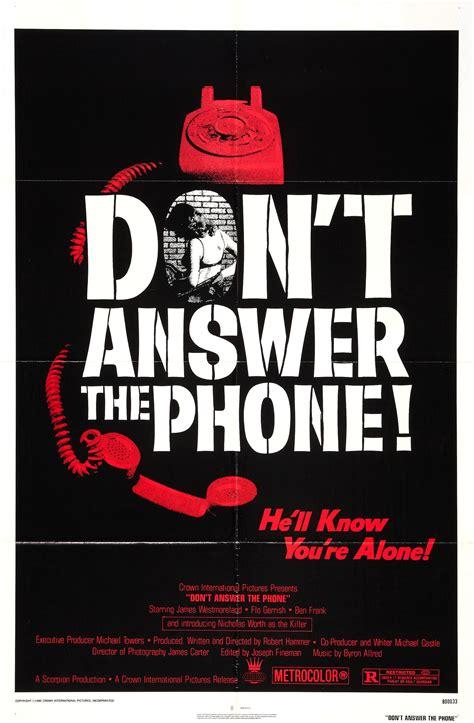 don t answer the phone don t answer the phone 1980 review horrormovies ca