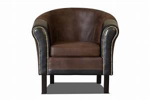 Fauteuil Crapaud Noir : fauteuil cabriolet cuir et bois ~ Preciouscoupons.com Idées de Décoration