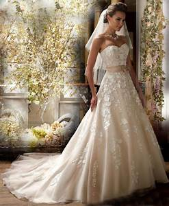 new strapless a line applique white ivory champagne With ivory champagne wedding dress