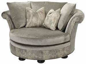 Low Back Comfy Round Sofa