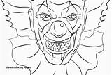 Pennywise Coloring Pages Clown Face Getdrawings Penny Drawing Printable Colouring Scary Template Colorings Print Getcolorings sketch template