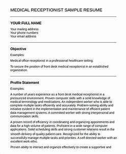 Medical Office Receptionist Resume Sample 5 Medical Receptionist Resume Templates Pdf Doc Free