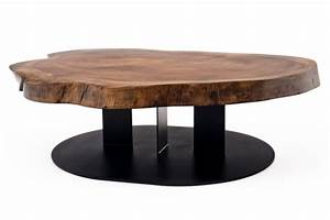 Table Basse Design Bois : table salon contemporaine bois ~ Teatrodelosmanantiales.com Idées de Décoration