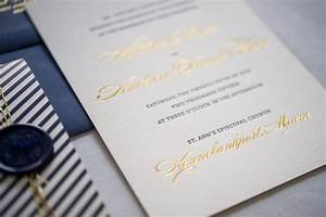 preppy and nautical gold foil wedding invitations With letterpress wedding invitations gold coast