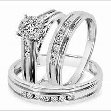 34 Carat Tw Diamond Trio Matching Wedding Ring Set 10k