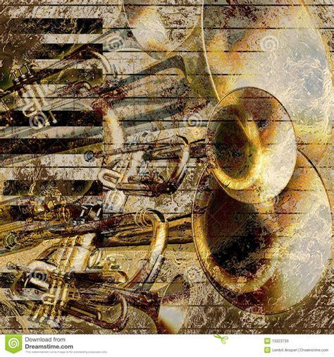 musical jazz background stock  image