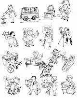 Occupations Coloring Popular sketch template
