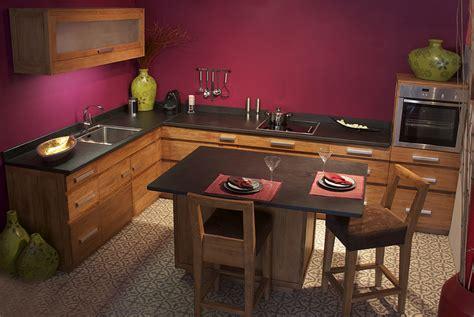 meubles de cuisine en teck massif collection kayumanis