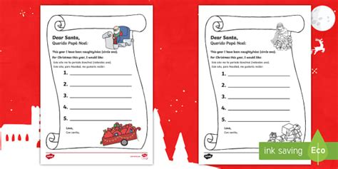 prince georges letter  santa writing template english