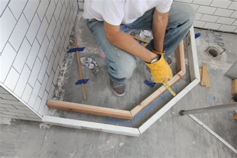 how to build a shower shower base for tile how to build it perfectly homesfeed