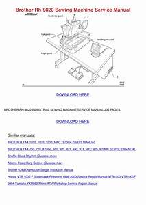Brother Rh 9820 Sewing Machine Service Manual By Kathryne