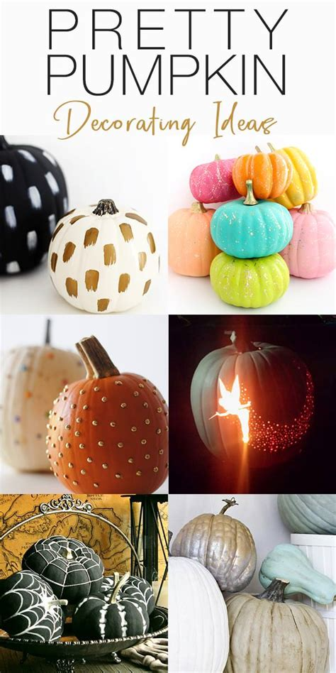 pumpkin decorating ideas  ideas  pretty pumpkins