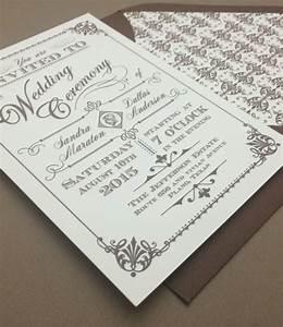ornate vintage type wedding invitation download print With types of wedding invitations printing