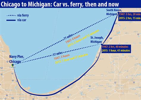 Ferry Boat Across Lake Michigan by Ferry Tale Could A Chicago To Michigan Ferry Return From