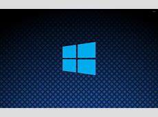 Windows 10 on square pattern simple blue logo [2