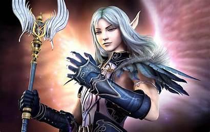 Elf Sorcerer Fantasy Wallpapers Desktop Female Elven