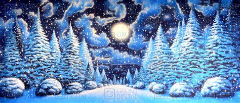 Night Snow Landscape 2 Digital backdrops Backdrops