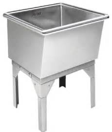 just free standing laundry tub 27x27x16 14 stainless steel traditional utility sinks