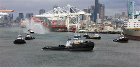 Seattle Workboat Show by Harley Marine Christens Tier 4 Tug Earl W Redd