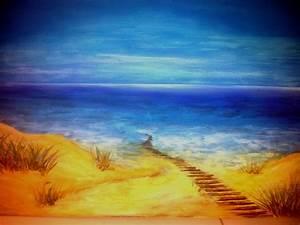 Strandbilder Auf Leinwand : strandbild acrylmalerei malerei strandbilder von nobbydo bei kunstnet ~ Watch28wear.com Haus und Dekorationen