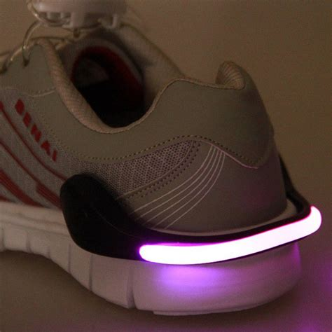 motorcycle shoes with lights useful outdoor tool led luminous shoe clip light night