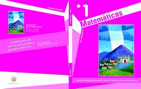 portada libro alumno matetamicas primero o primer