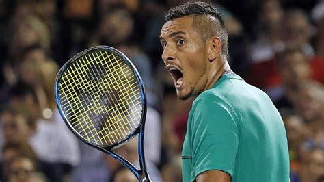 nick kyrgios  latest sore loser   ham   racket