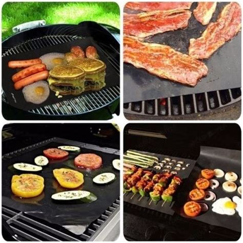 Grill Cooking Mats - uk 5x bbq grill mat reusable resistant non stick grilling