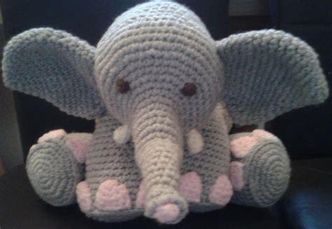 crochet elephant amigurumi elephant pillow cushion toy by peach unicorn craftsy