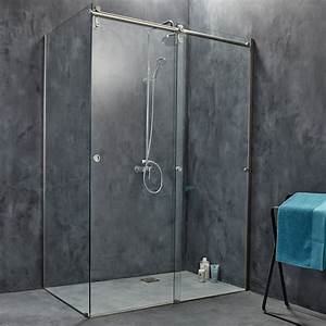 porte de douche coulissante 119 cm transparent ellipse 2 With porte douche coulissante 140 leroy merlin