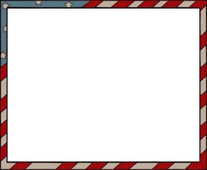 red white  blue border   clip art