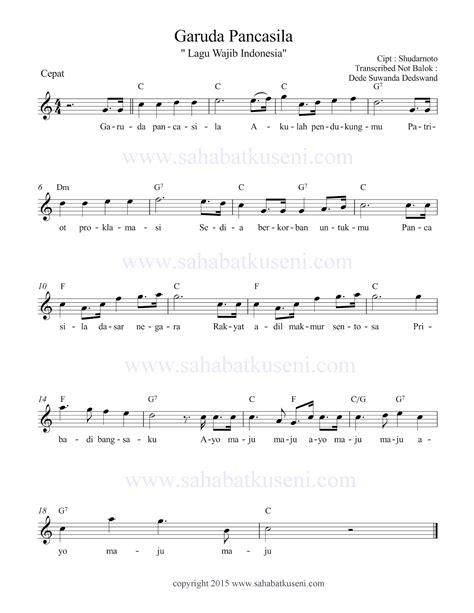 not balok lagu satu nusa satu bangsa dan not balok lagu pemuda pancasila lagu wajib indonesia the knownledge dan not balok