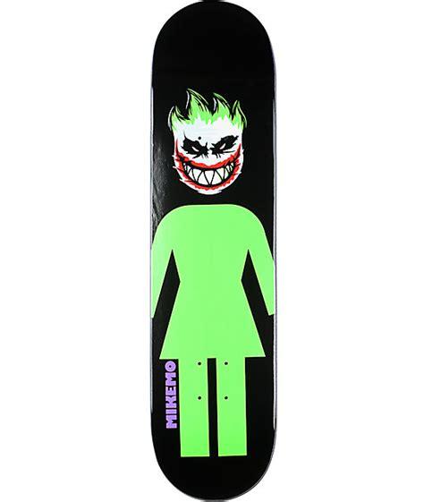 """Girl Mike Mo Capaldi Joker 775"""" Skateboard Deck Zumiez"""
