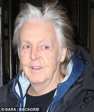 paul mccartney  shows  silver hair   york