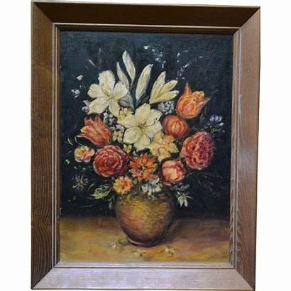 Still Painting Oil Floral Vivian Moody Lane