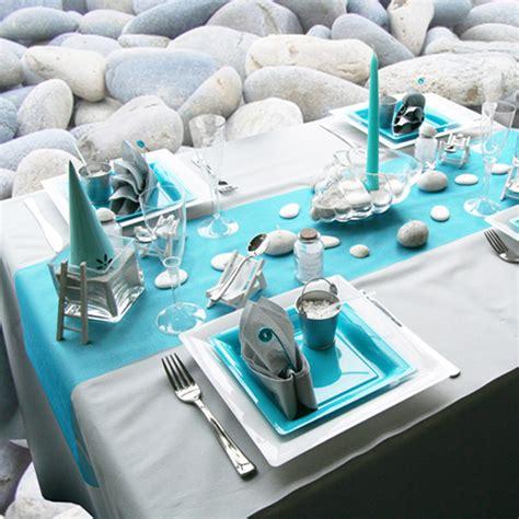 deco table bapteme gris et bleu