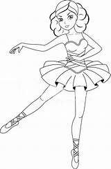 Coloring Pages Dancing Ballerina Printable Colouring Print Getcolorings sketch template