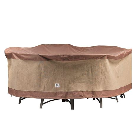 table and chair covers duck covers ultimate 90 in round patio table and chair