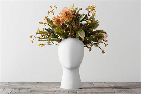 Flowers For Vase by Shop White Wig Flower Vase On Crowdyhouse