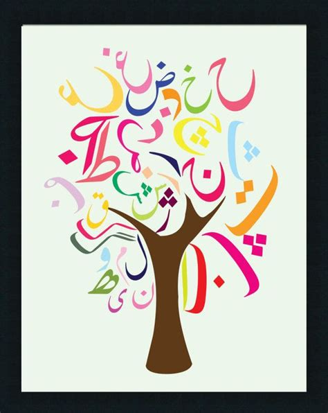 Farsi Alphabet by Alphabet Tree Poster Chicka Chicka Boom Boom