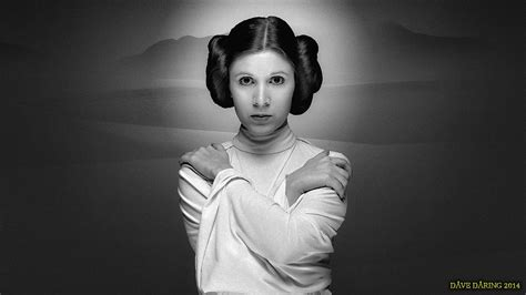 Carrie Fisher Princess Leia Xliii Paint By Dave Daring On