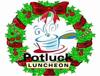 Potluck Christmas Holiday Clipart Lunch Clip Office