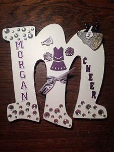 best 25 cheerleading locker decorations ideas on With cheer letter signs