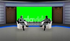 Talkshow 011 TV Studio Set-Virtual Green Screen Background ...