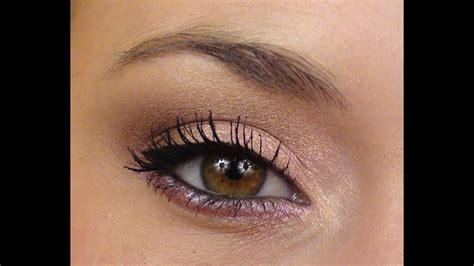 Maquillage Simple Yeux Marrons P 234 Che Lumi 232 Re Tutoriel Maquillage Doux Facile Lumineux