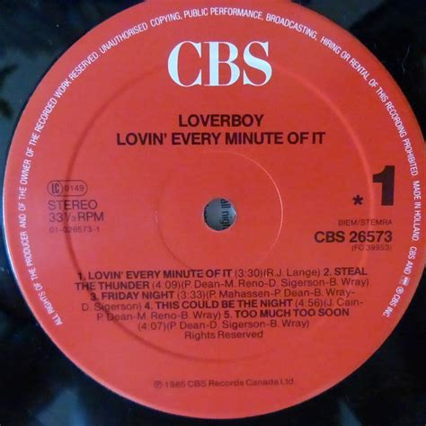 Lovin' every minute of it. Lovin' every minute of it by Loverboy, LP with blackcircle ...