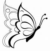Butterfly Coloring Pages Printable Butterflies Simple Drawings Drawing Colouring Line Flowers Outline Flower Sheet Clipart Crafts Rose sketch template