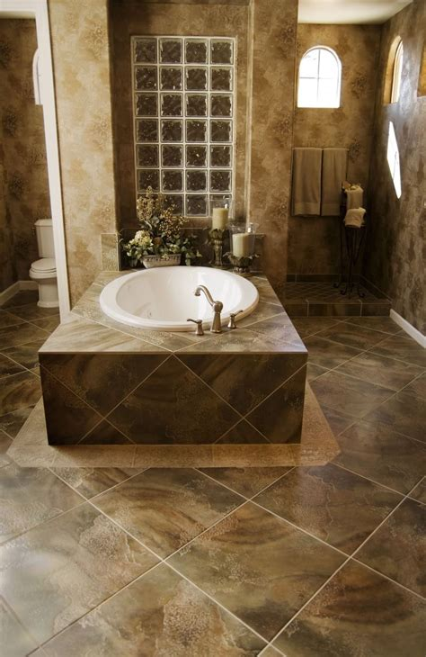 unique bathroom floor tile pictures  ideas